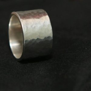 Thick silver ring
