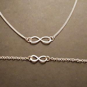 Infinity bracelet and pendant