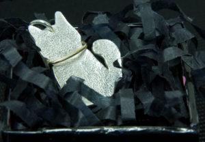 Silver kitten pendant