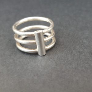 Handmade 3 ringed ring