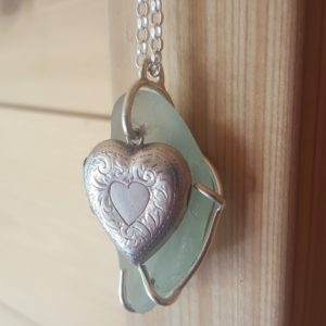 Seaham and locket pendant