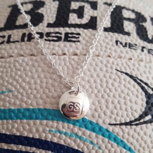 Netball charm necklace