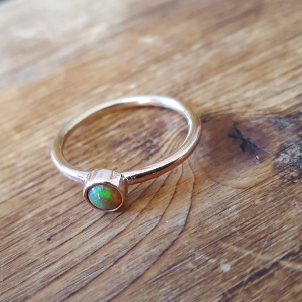 Opal and Rose Gold ring