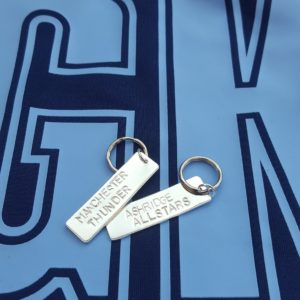 Netball team keyrings