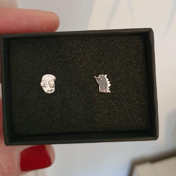 Mole and hedgehog earrings