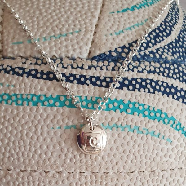 Netball position charm necklace