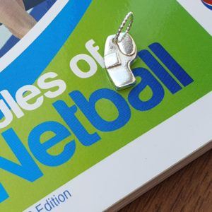 Whistle charm for netball jewellery