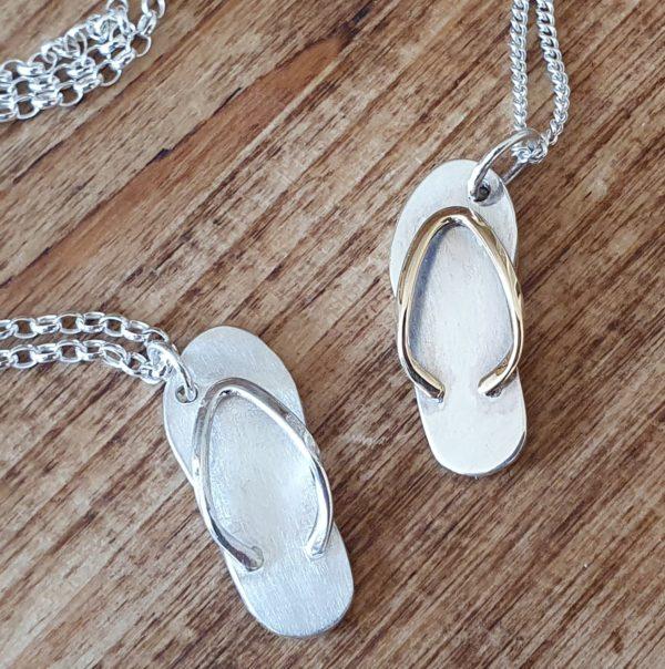 Flip flop necklaces