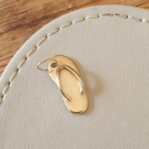 Gold flip flop charm