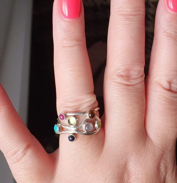 Gemstone ring on client