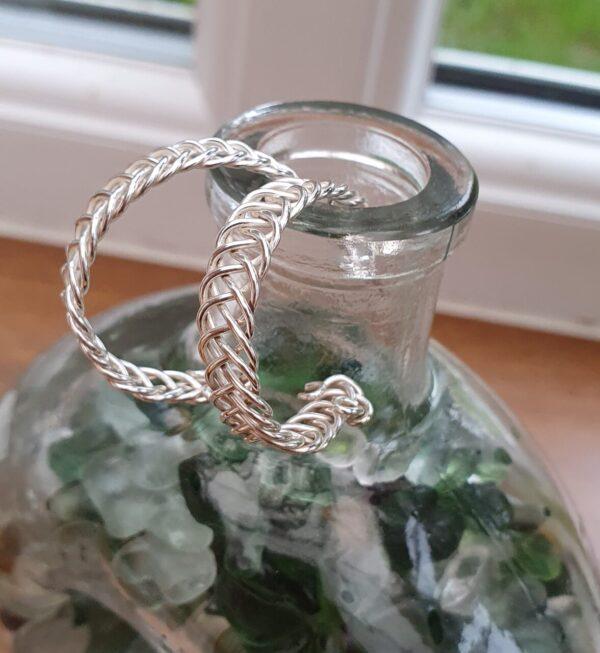 Celtic weave earrings
