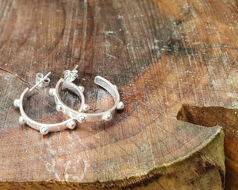 Sterling silver studded earrings