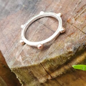Rose gold studded ring