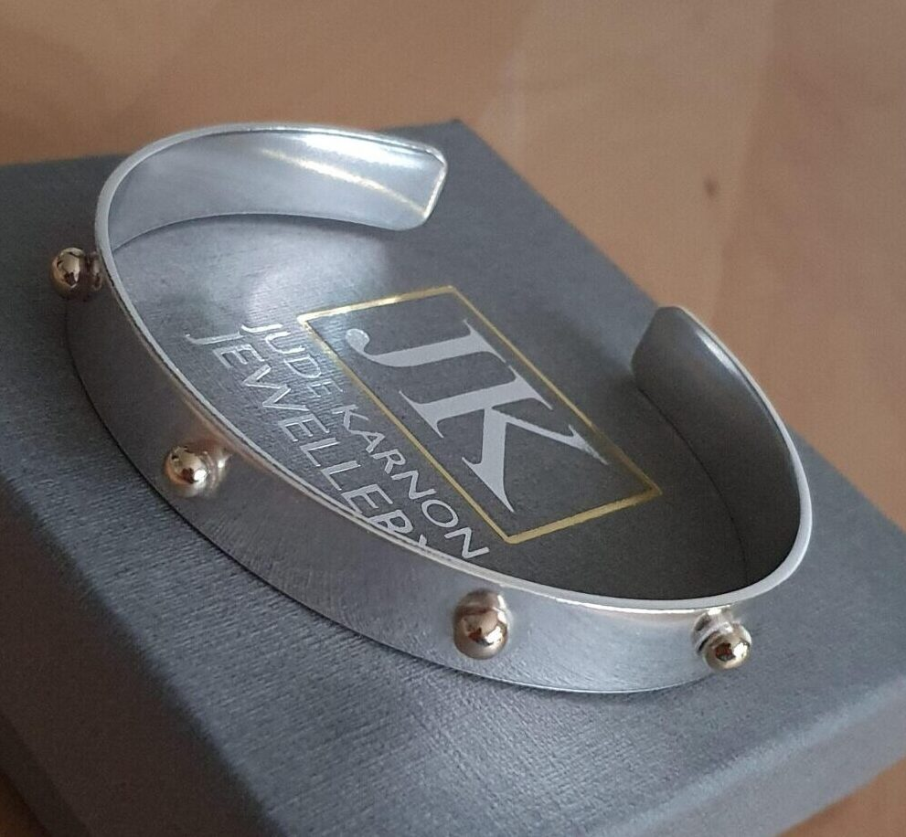 Silver and Gold Battle cuff